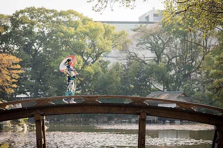 満開の桜の成人式前撮りプラン