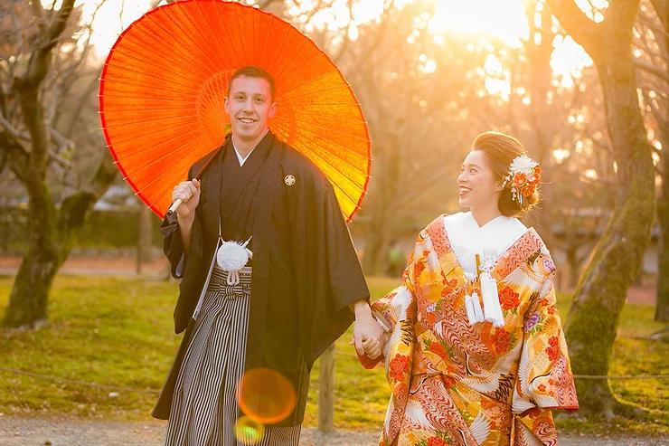 京都・東福寺で結婚式前撮り