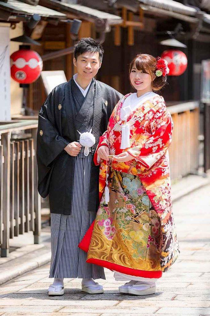 京都、祇園で婚礼前撮り