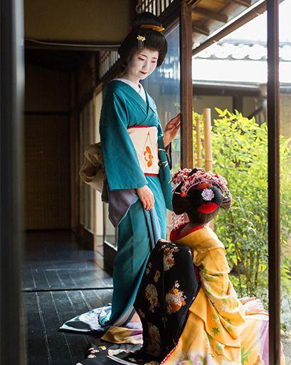 舞妓京町家室内撮影
