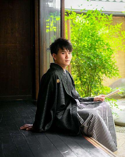 成人式紋付袴京町家撮影 写真だけ 男性