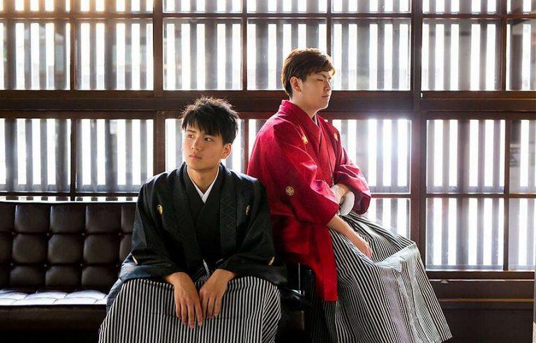 京都 成人式 写真だけ 男性 紋付袴 前撮り 京町家