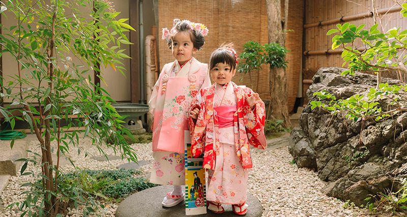 三歳被布京町家室内撮影