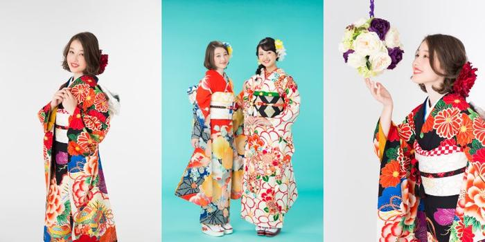 「京都着物レンタル夢館 フォトスタジオ」成人式前撮りスタジオプラン