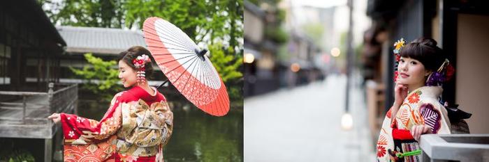 「京都着物レンタル夢館 フォトスタジオ」成人式前撮りロケーション