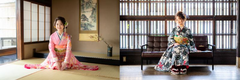 「京都着物レンタル夢館 フォトスタジオ」成人式前撮り京町家プラン