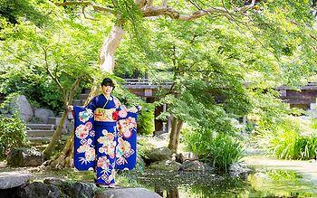 「京都着物レンタル夢館 フォトスタジオ」成人式前撮りロケーション 渉成園コース