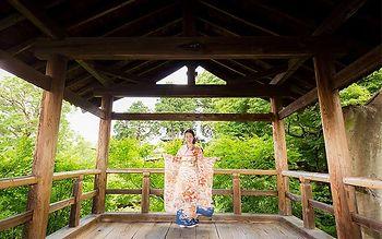 「京都着物レンタル夢館 フォトスタジオ」成人式前撮りロケーション 東福寺コース